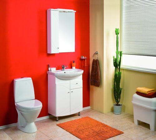 Зеркальный шкаф Aquaton Пинта М левый белый 1A013202PT01L