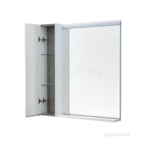 Зеркальный шкаф Aquaton Рене 80 белый