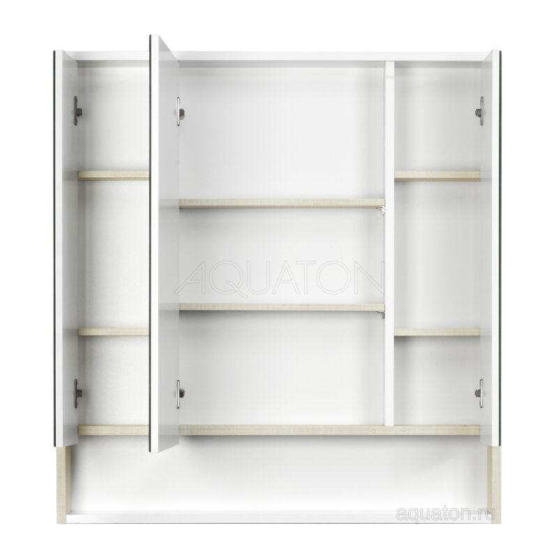 Зеркальный шкаф Aquaton Рико 80 белый