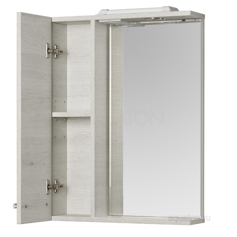 Зеркальный шкаф Aquaton Ронда PRO 55 дуб соммерсет 1A208602RSC2L
