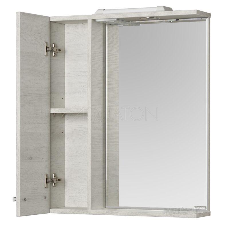 Зеркальный шкаф Aquaton Ронда PRO 60 дуб соммерсет 1A205102RSC2L