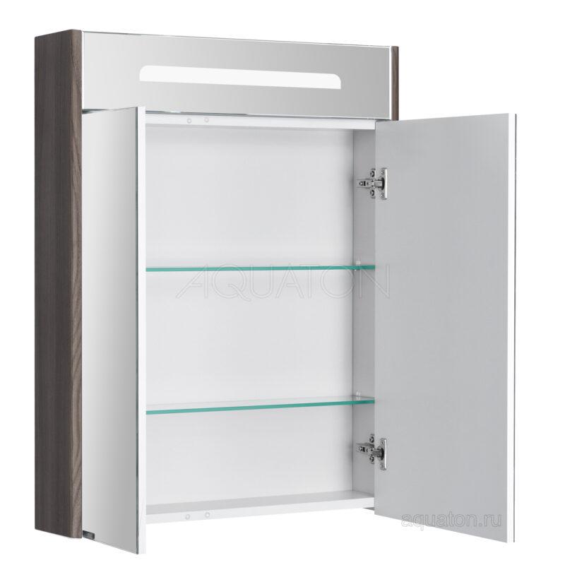 Зеркальный шкаф Aquaton Сильва 60 дуб макиато 1A216202SIW50