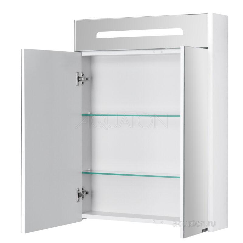 Зеркальный шкаф Aquaton Сильва 60 дуб полярный 1A216202SIW70