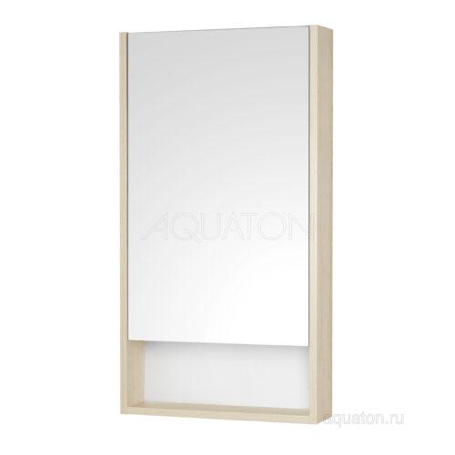 Зеркальный шкаф Aquaton Сканди 45 белый