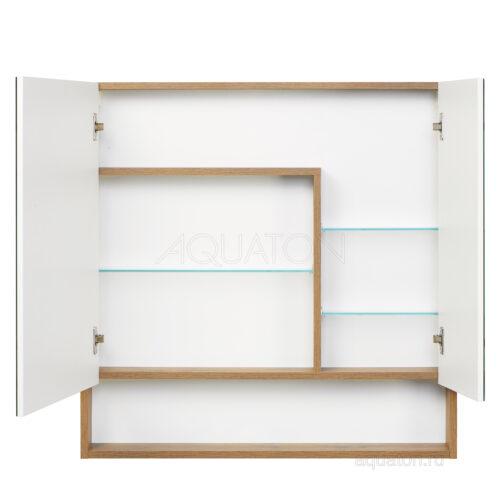 Зеркальный шкаф Aquaton Сканди 90 белый