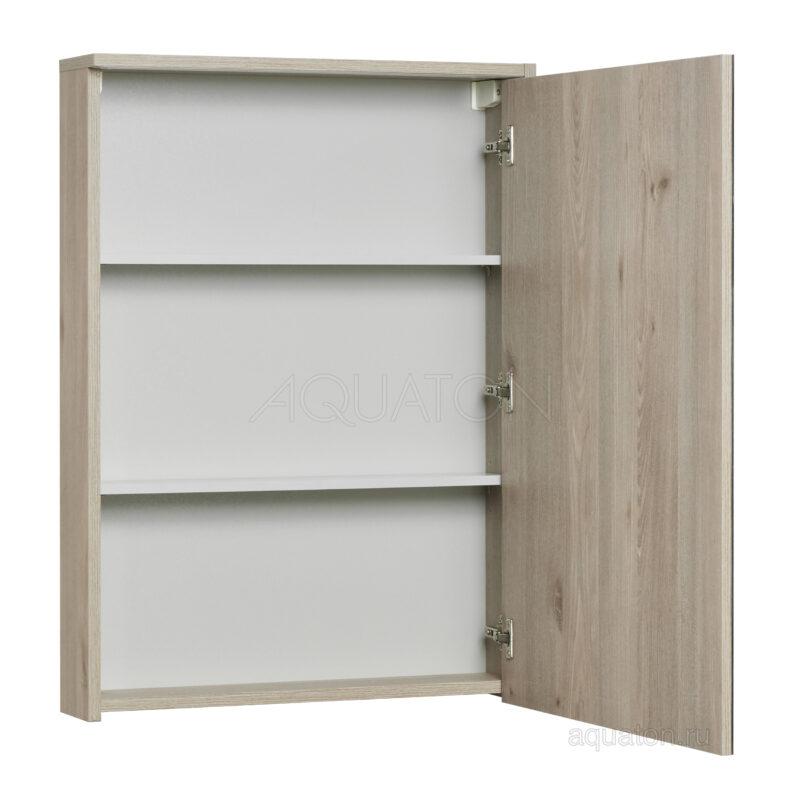 Зеркальный шкаф Aquaton Стоун 60 сосна арлингтон 1A231502SX850
