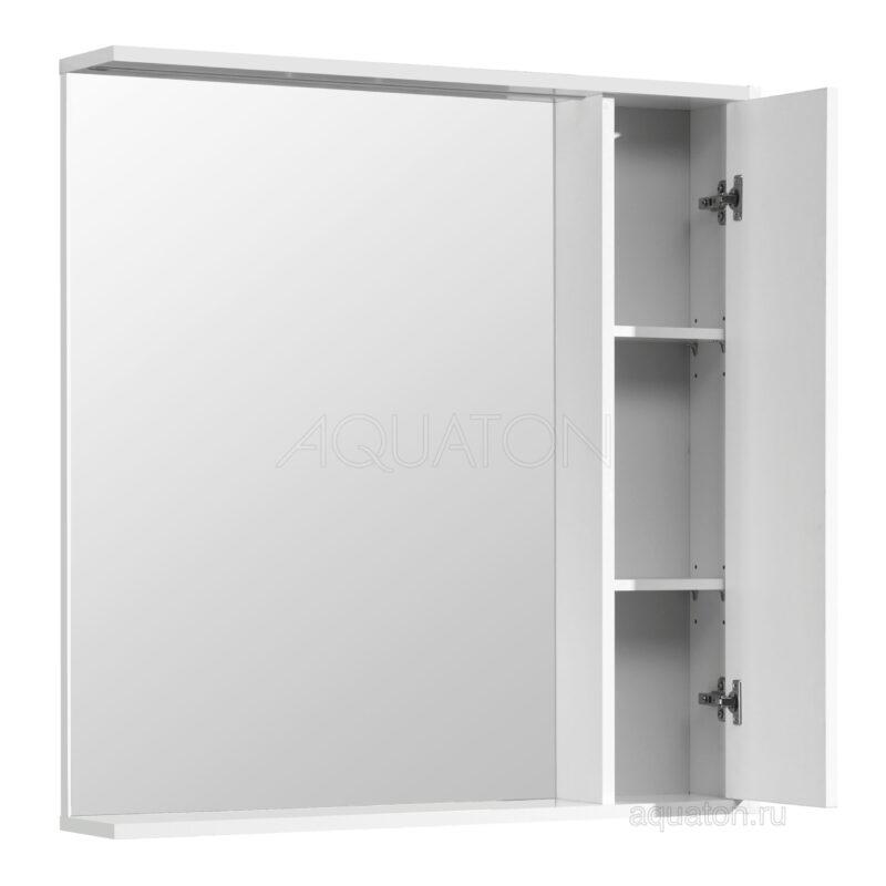 Зеркальный шкаф Aquaton Стоун 80 белый 1A228302SX010
