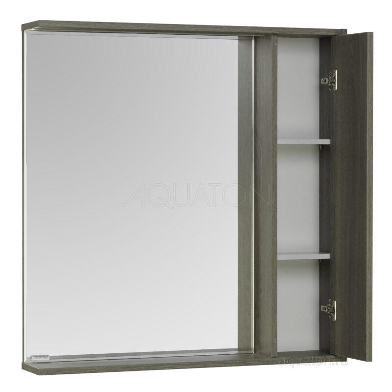 Зеркальный шкаф Aquaton Стоун 80 грецкий орех 1A228302SXC80