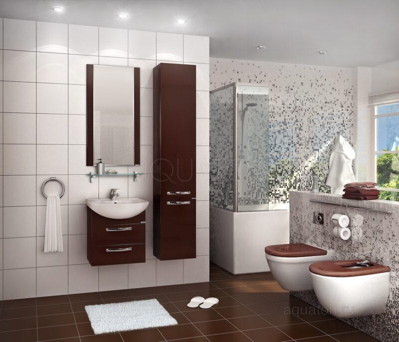 Зеркало Aquaton Ария 50 темно-коричневое 1A140102AA430