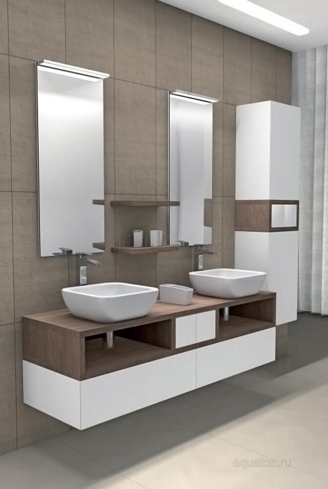 Зеркало Aquaton Интегро белое 1A139802IN010