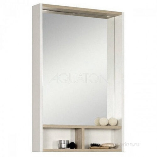 Зеркало Aquaton Йорк 55 белый