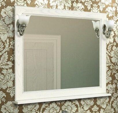 Зеркало Aquaton Жерона 105 белое серебро 1A158802GEM20