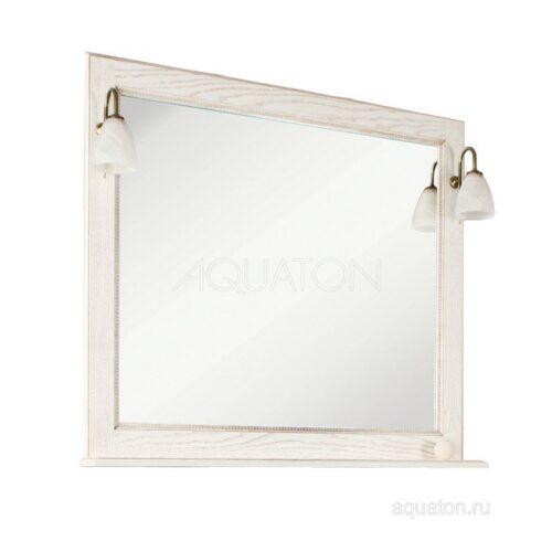 Зеркало Aquaton Жерона 105 белое золото 1A158802GEM40