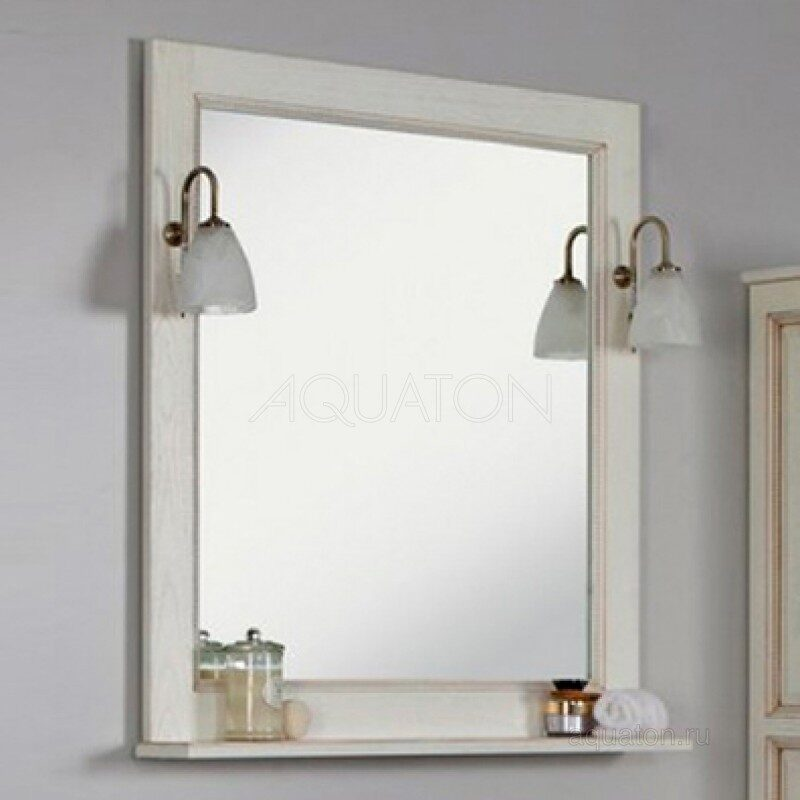 Зеркало Aquaton Жерона 85 белое золото 1A158702GEM40