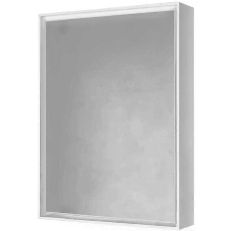 Зеркало-шкаф Frame 60 Белый с подсветкой, розеткой Fra.03.60/W