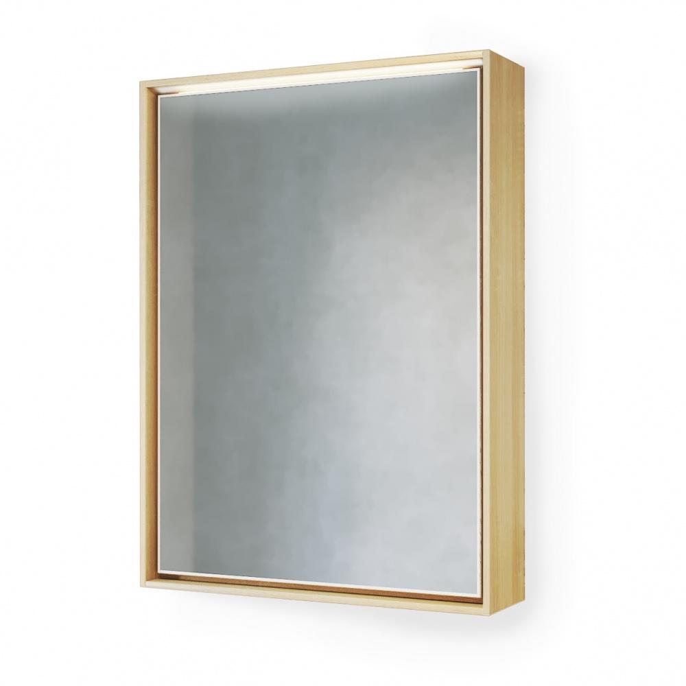 Зеркало-шкаф Frame 60 Дуб сонома с подсветкой, розеткой Fra.03.60/W-DS
