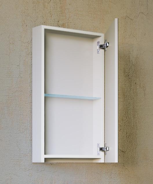 Зеркало-шкаф Kub 40 Белый Универсальный Kub.03.40/W