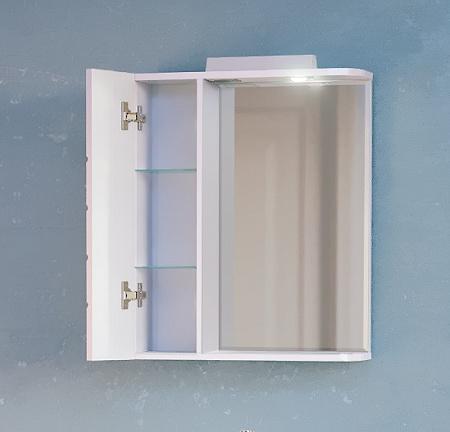 Зеркало-шкаф Kub 50 Белый с подсветкой Kub.03.50/W