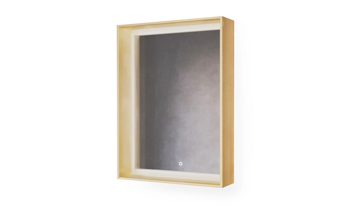 Зеркало Frame 60 Дуб сонома с подсветкой (сенсор) Fra.02.60/W-DS