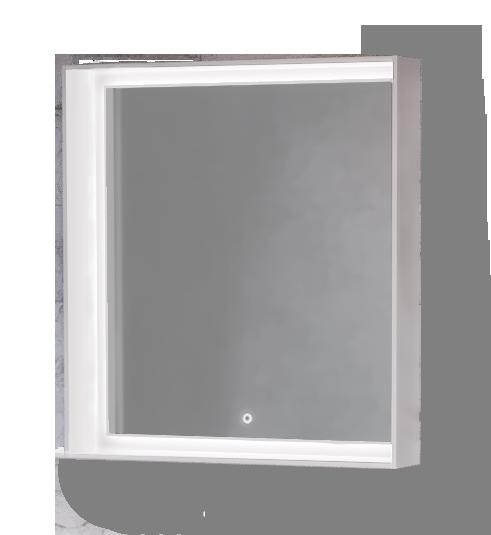 Зеркало Frame 75 Белое с подсветкой (сенсор) Fra.02.75/W