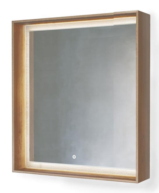 Зеркало Frame 75 Дуб трюфель с подсветкой (сенсор) Fra.02.75/DT