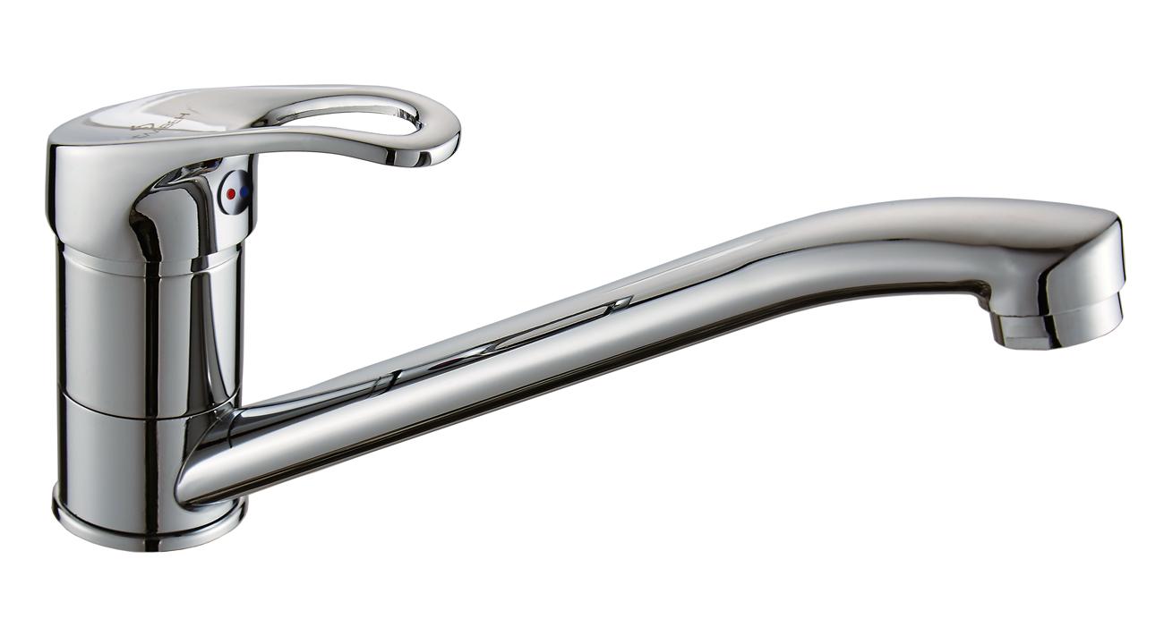 Смеситель Славен для мойки с длинным изливом (250 мм),одноручный.Б21