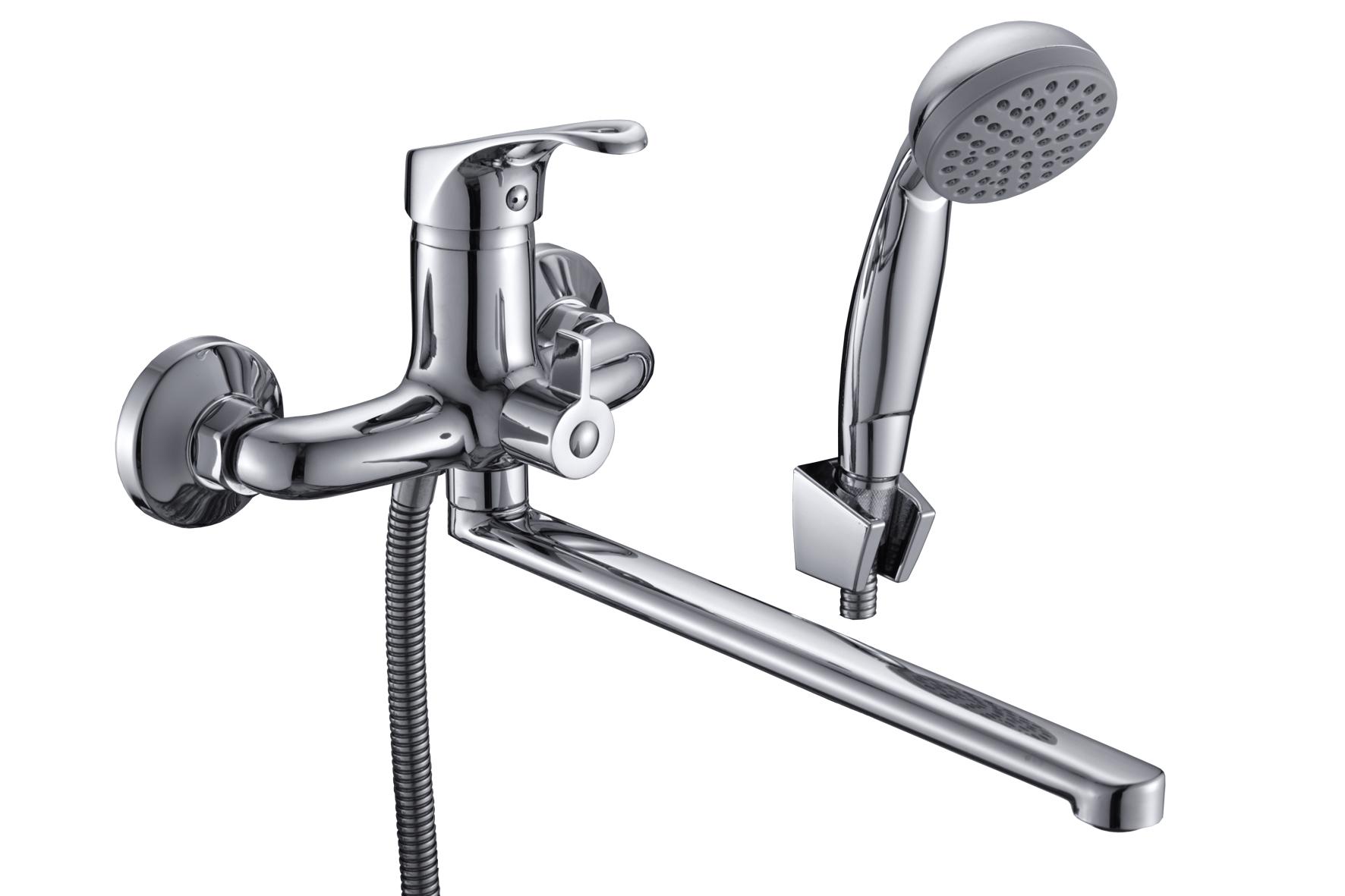 Смеситель Славен для ванны и умывальника универсальный с поворотным изливом, переключатель флажковый, комплект, одноручный.Б31