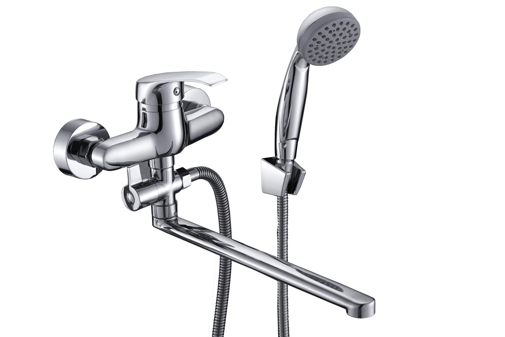 Смеситель Славен для ванны и умывальника универсальный с поворотным изливом, переключатель флажковый, комплект, одноручный.К31