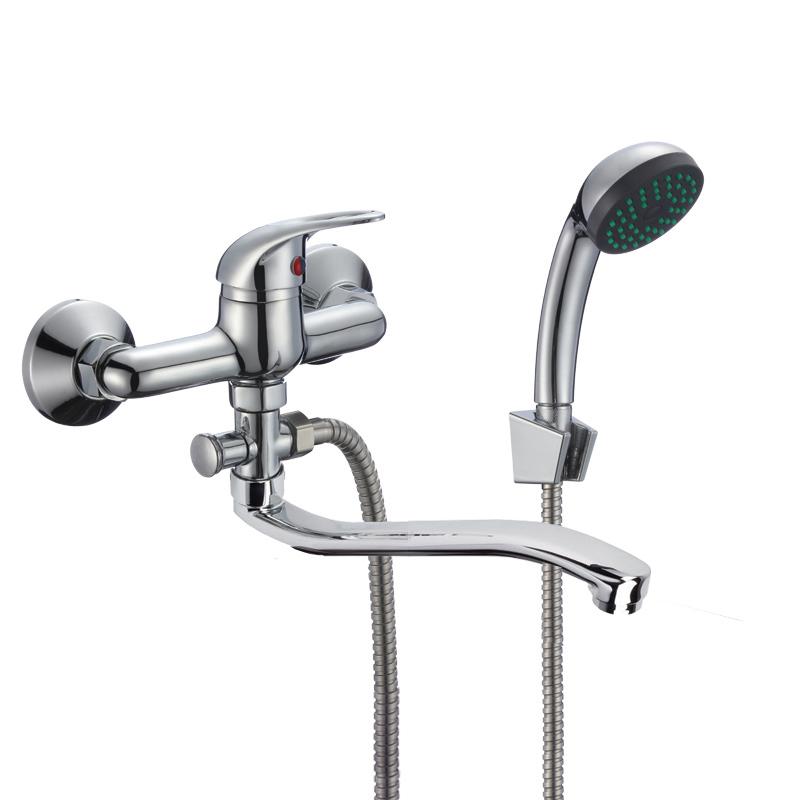 Смеситель Славен для ванны с коротким S-Образным изливом 150 мм., комплект. Р30
