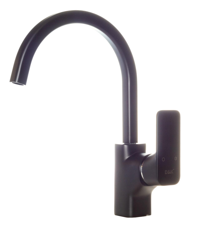 Смеситель для кухни D&K Berlin.Technische DA1432425 высокий черный матовый