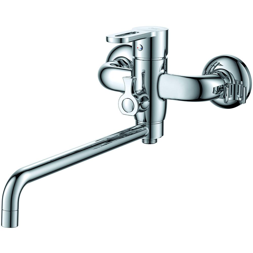 Смеситель для ванны с душем D&K Rhein.Paulinus DA1353301 длинный излив хром