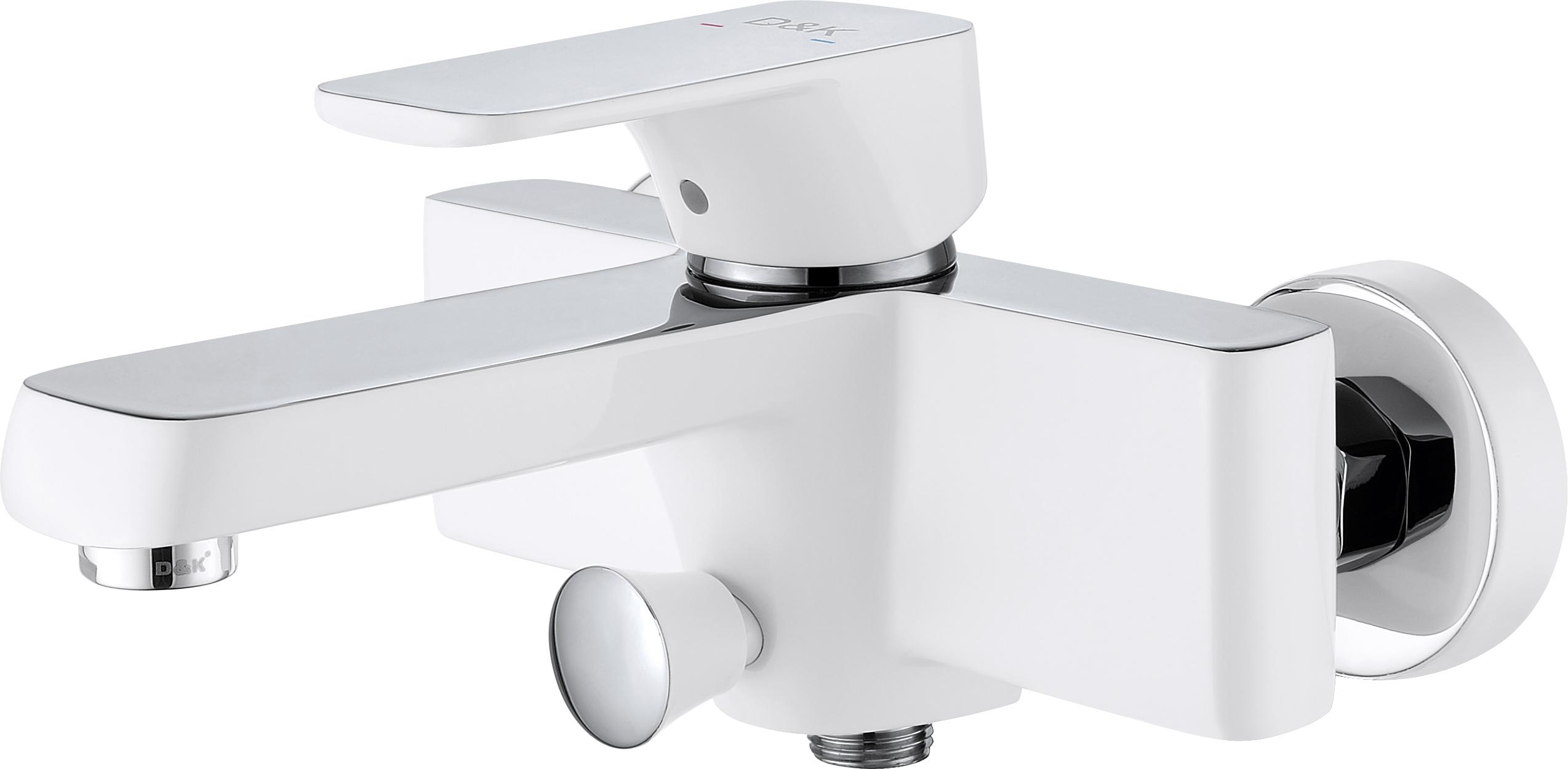 Смеситель для ванны с душем D&K Berlin.Steinbeis DA1433216 короткий излив белый-хром