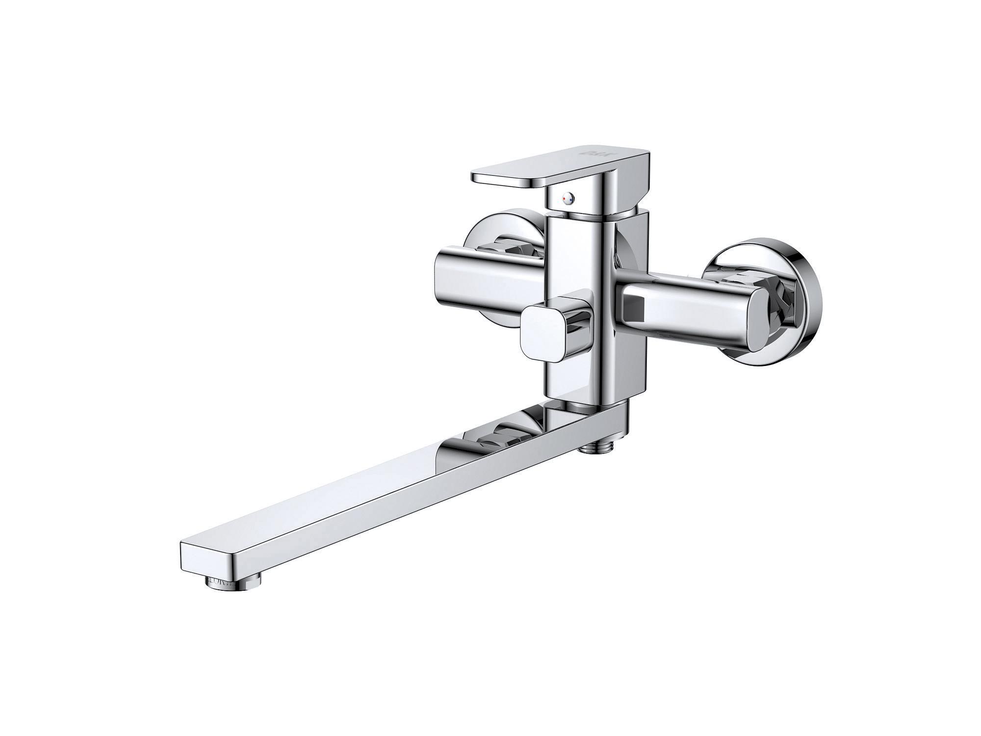 Смеситель для ванны с душем D&K Rhein.Altportel DA1333301 длинный излив хром