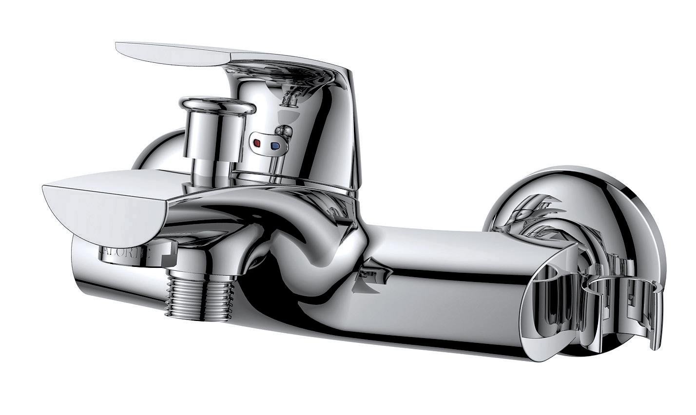 Смеситель для ванны с душем D&K Rhein.Feuerbach DA1283201 короткий излив хром