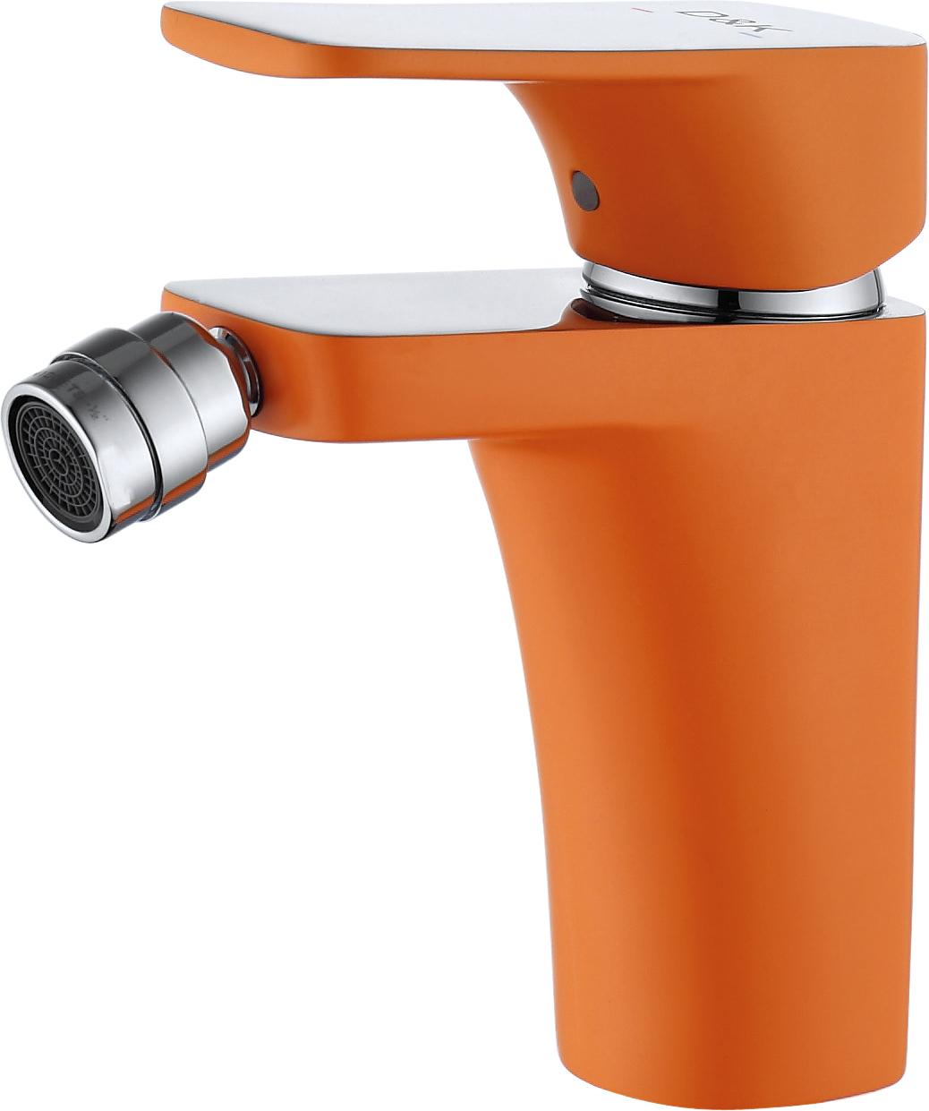 Смеситель для биде D&K Berlin.Kunste DA1432213 оранжевый-хром