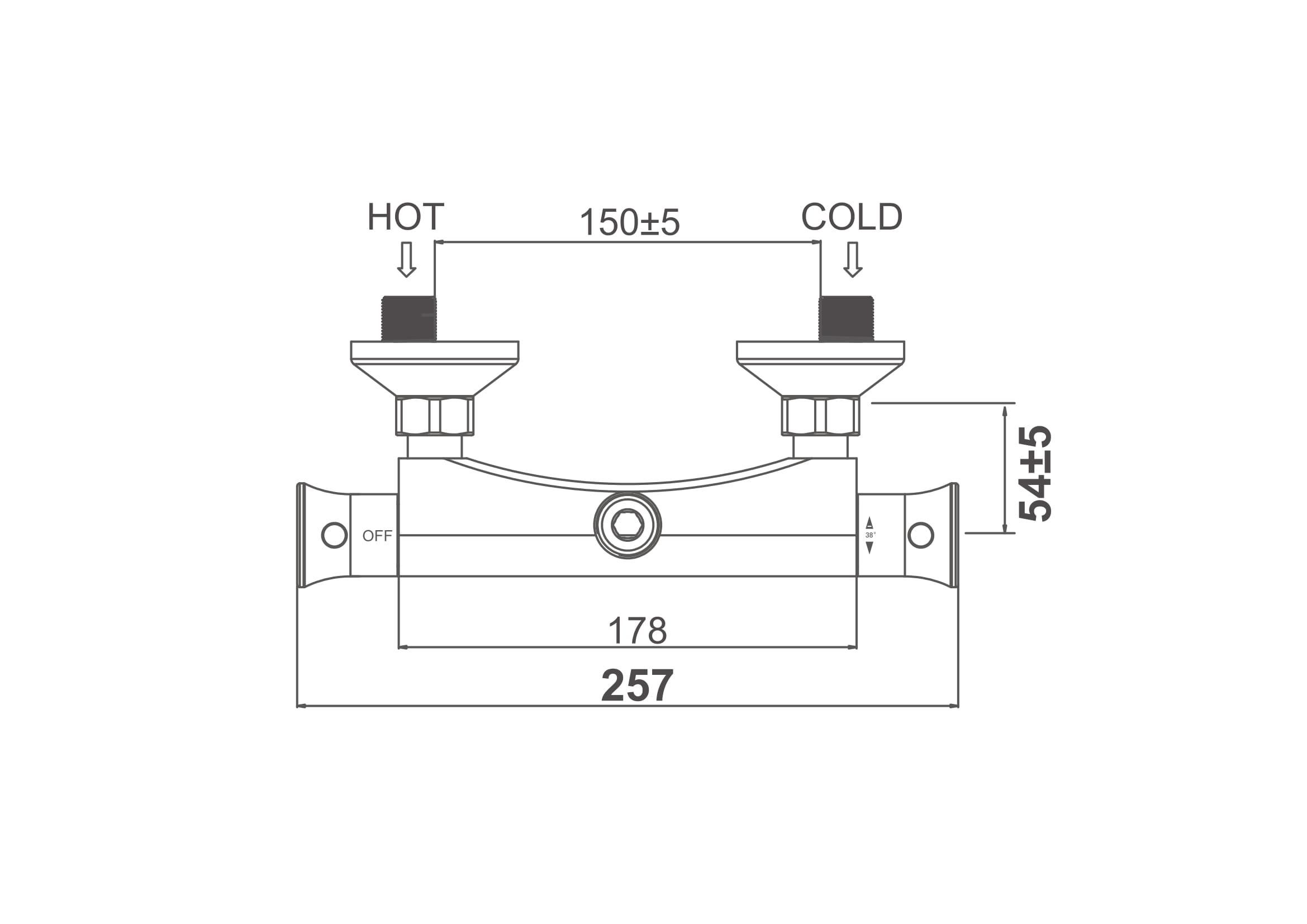 Термостат для душа D&K Bayern.Potsdam DA2113101 хром