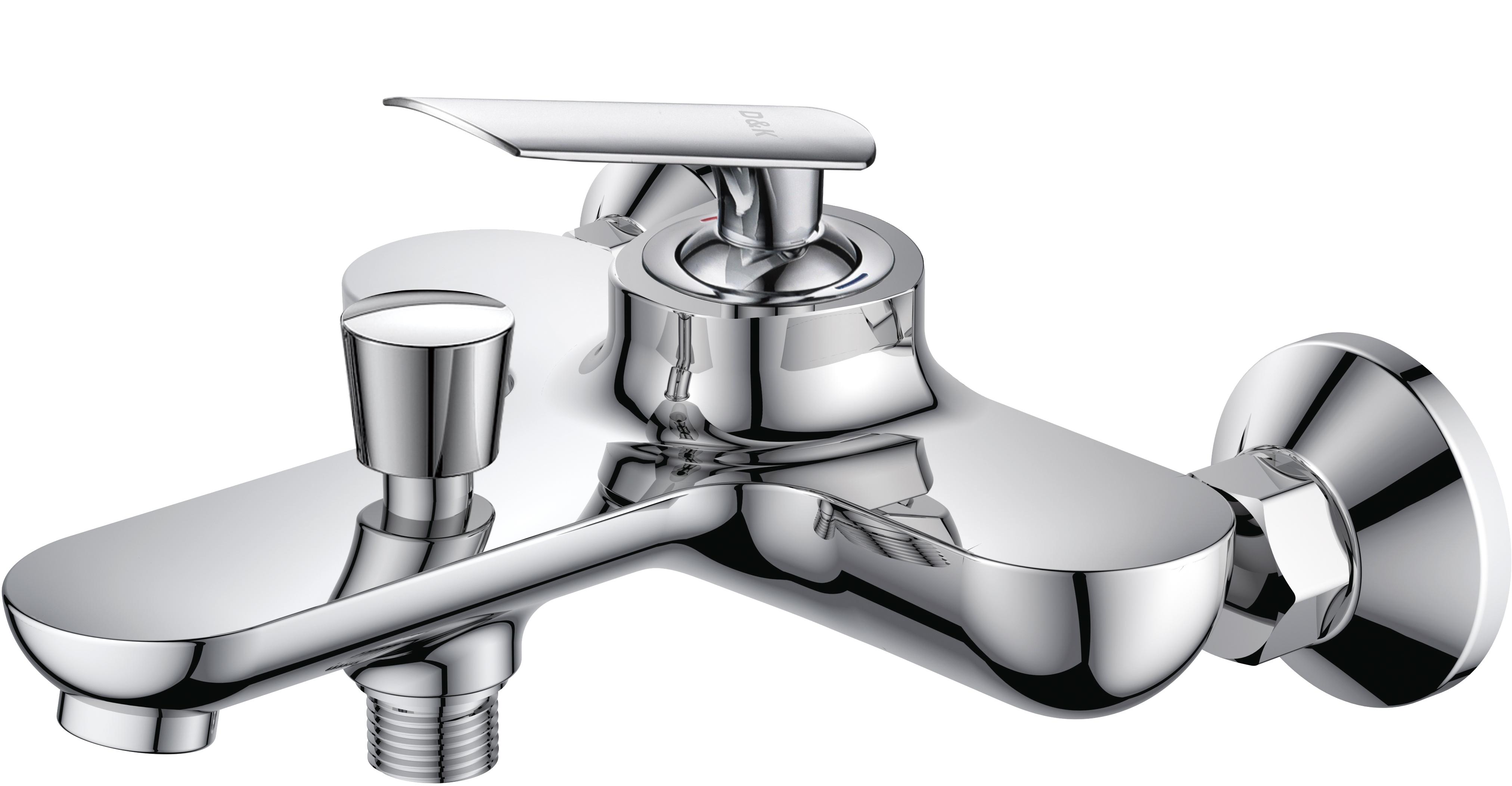 Смеситель для ванны с душем D&K Venice.Gondola DA1023241 короткий излив хром