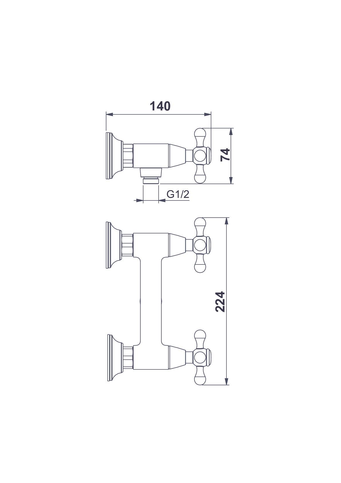 Смеситель для душа D&K Hessen.Hercules DA1423141 хром