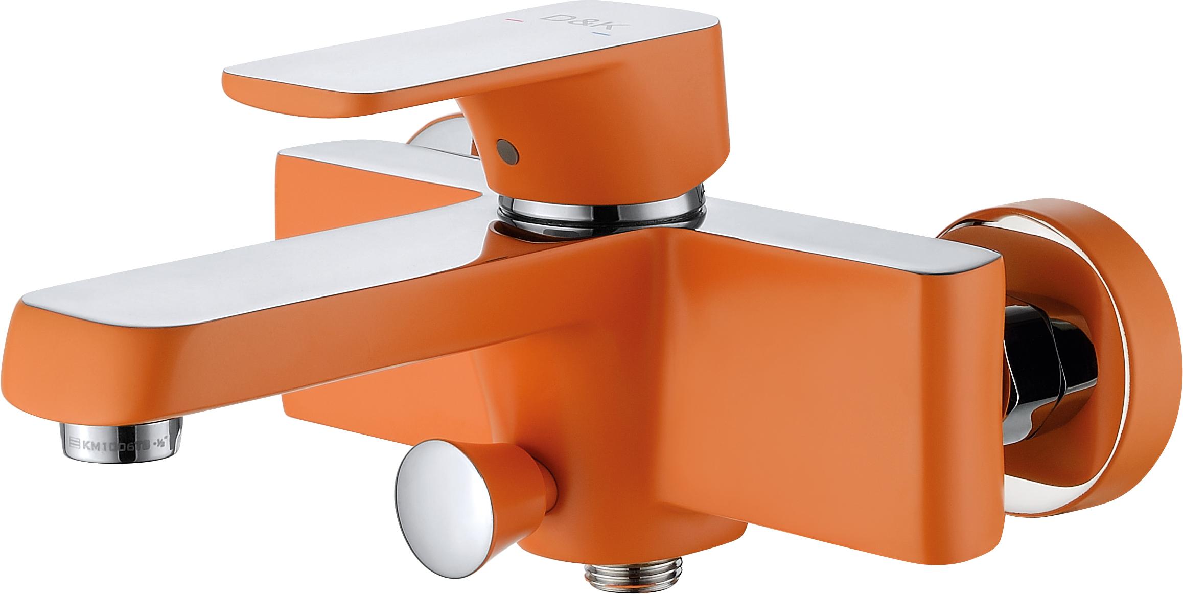 Смеситель для ванны с душем D&K Berlin.Kunste DA1433213 короткий излив оранжевый-хром