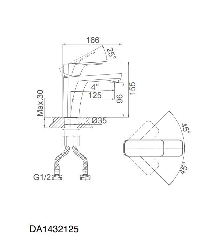 Смеситель для раковины D&K Berlin.Technische DA1432125 черный матовый