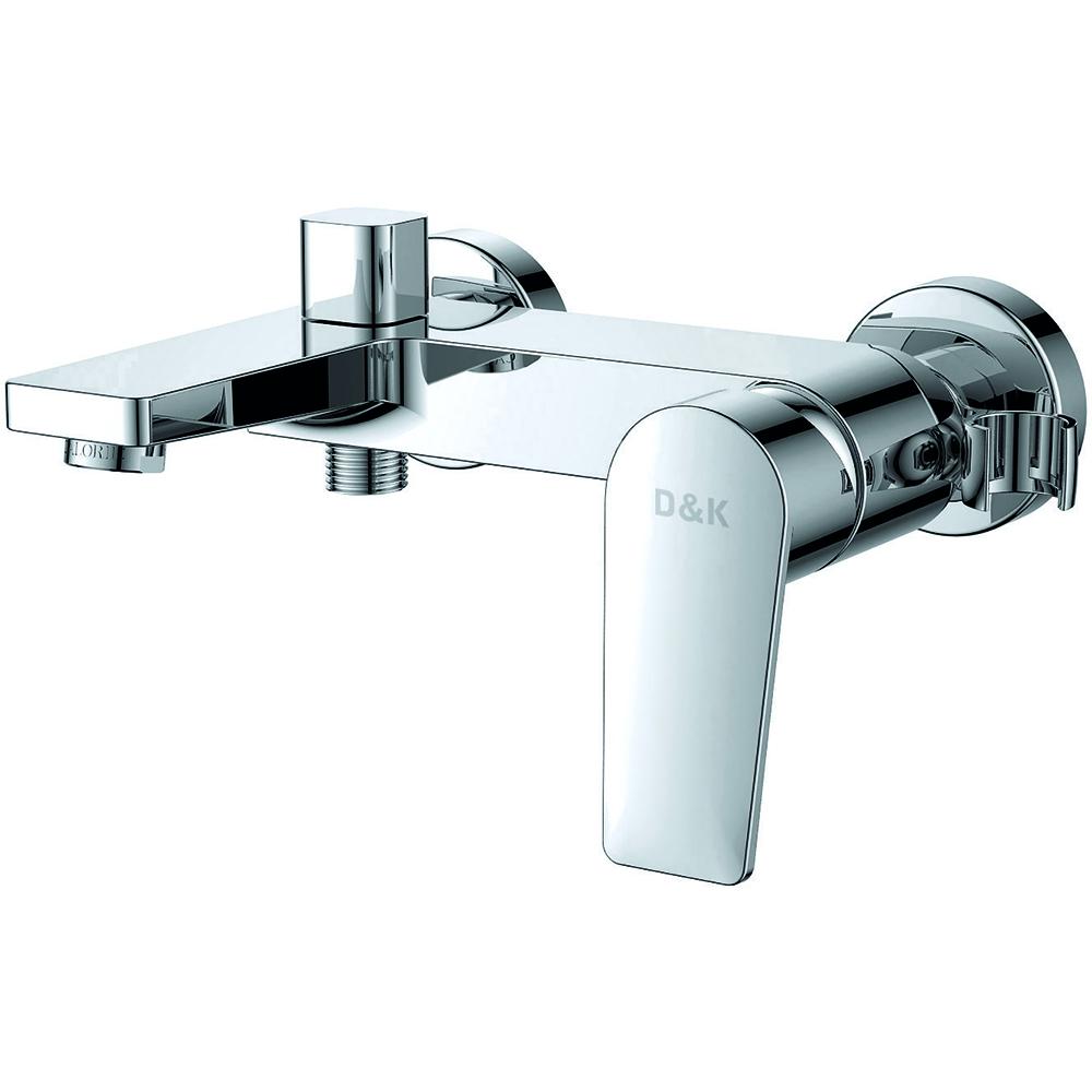 Смеситель для ванны с душем D&K Rhein.Lessing DA1323201 короткий излив хром