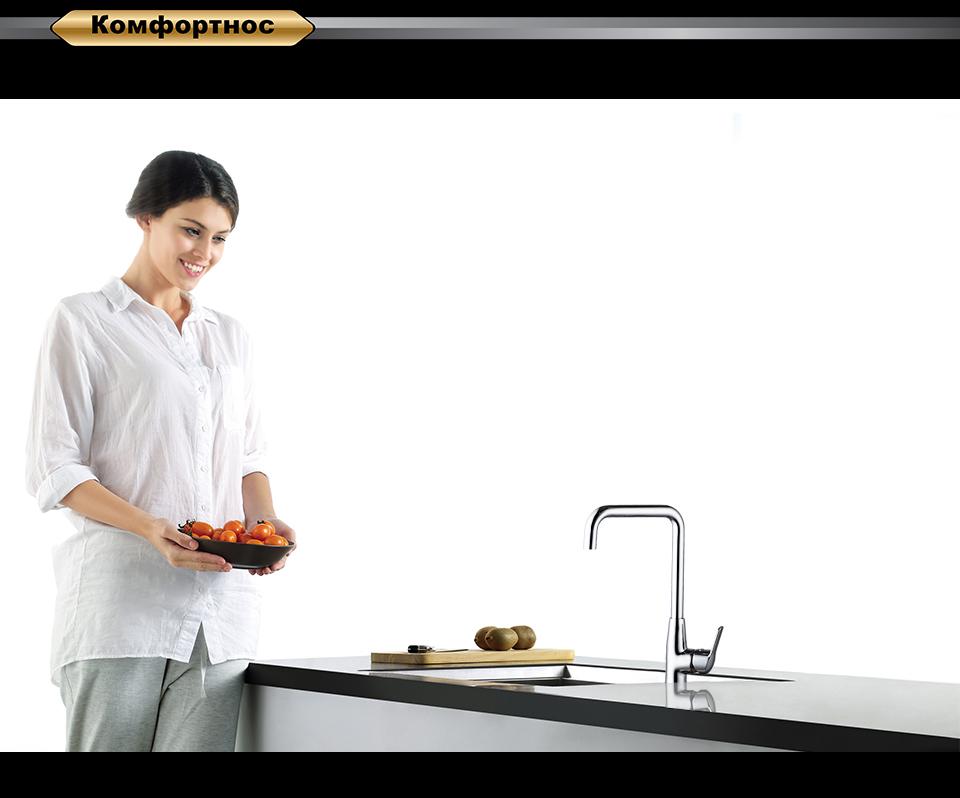 Смеситель для кухни D&K Bayern.Arbeo DA1242401 высокий хром