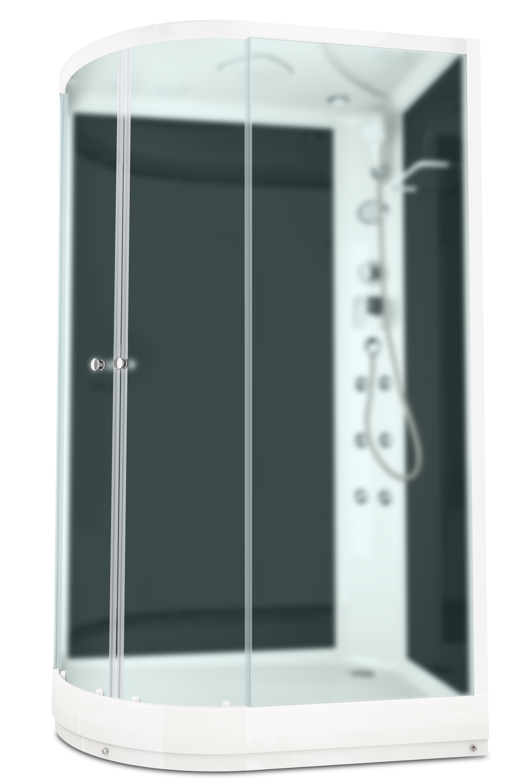 Душевая кабина DOMANI-SPA DELIGHT 128 R 120Х80 с блоком управления и гидромассажем