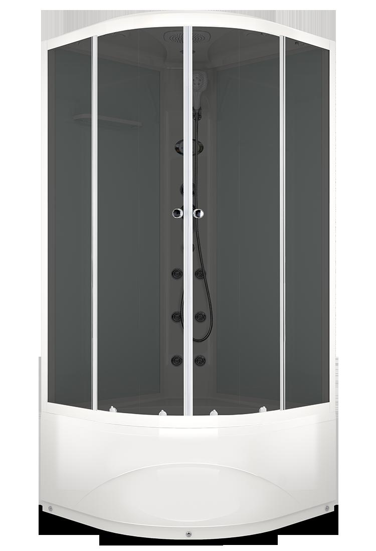 Душевая кабина DOMANI-SPA DELIGHT HIGH 90Х90 с блоком управления и гидромассажем