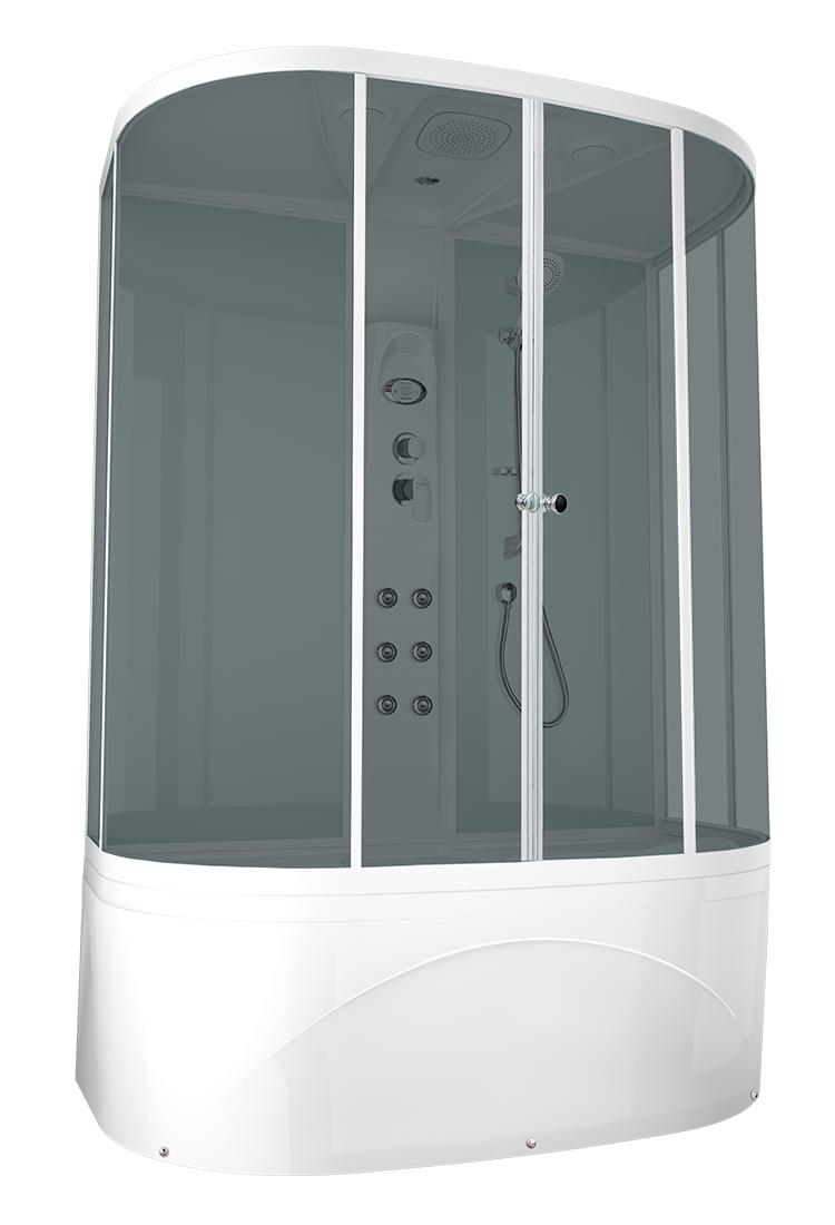 Душевая кабина DOMANI-SPA NEAT HIGH 150Х80 с блоком управления и гидромассажем