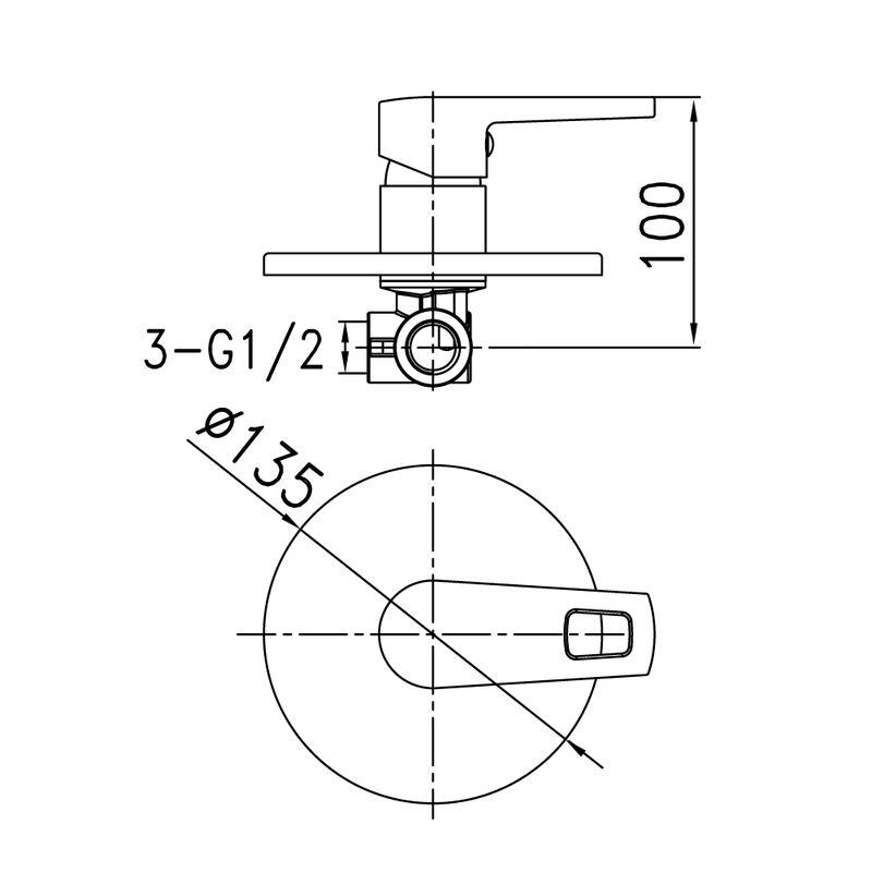 Встраиваемый смеситель с одним выходом, Runo, IDDIS, RUNSB00i66