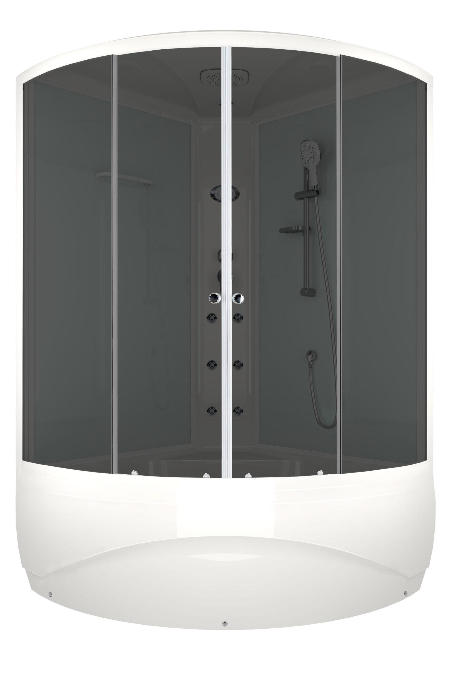 Душевая кабина DOMANI-SPA VITALITY HIGH 120X120 с блоком управления и гидромассажем