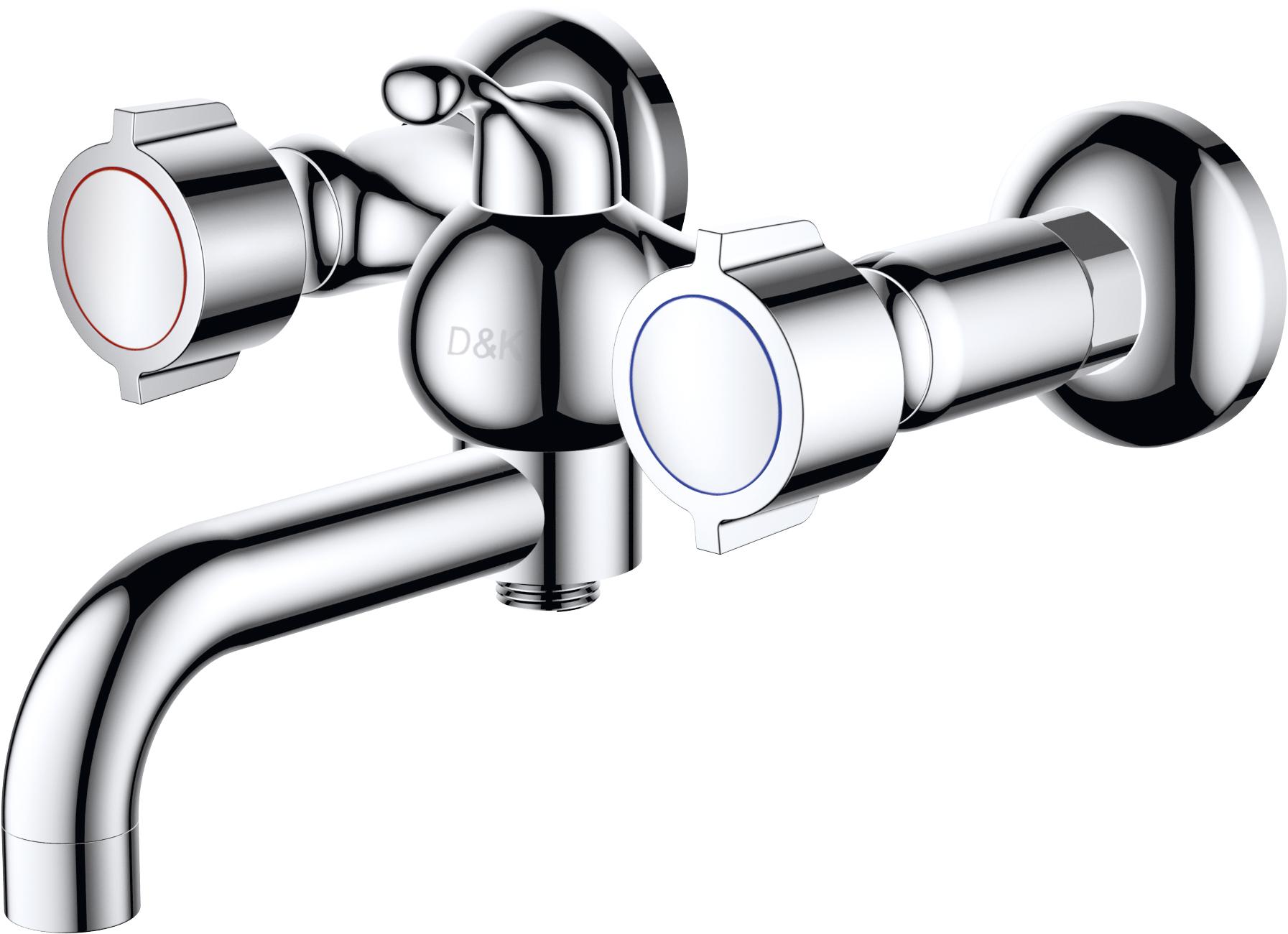 Смеситель для ванны с душем D&K Hessen.Torhall DA1413241 короткий излив хром