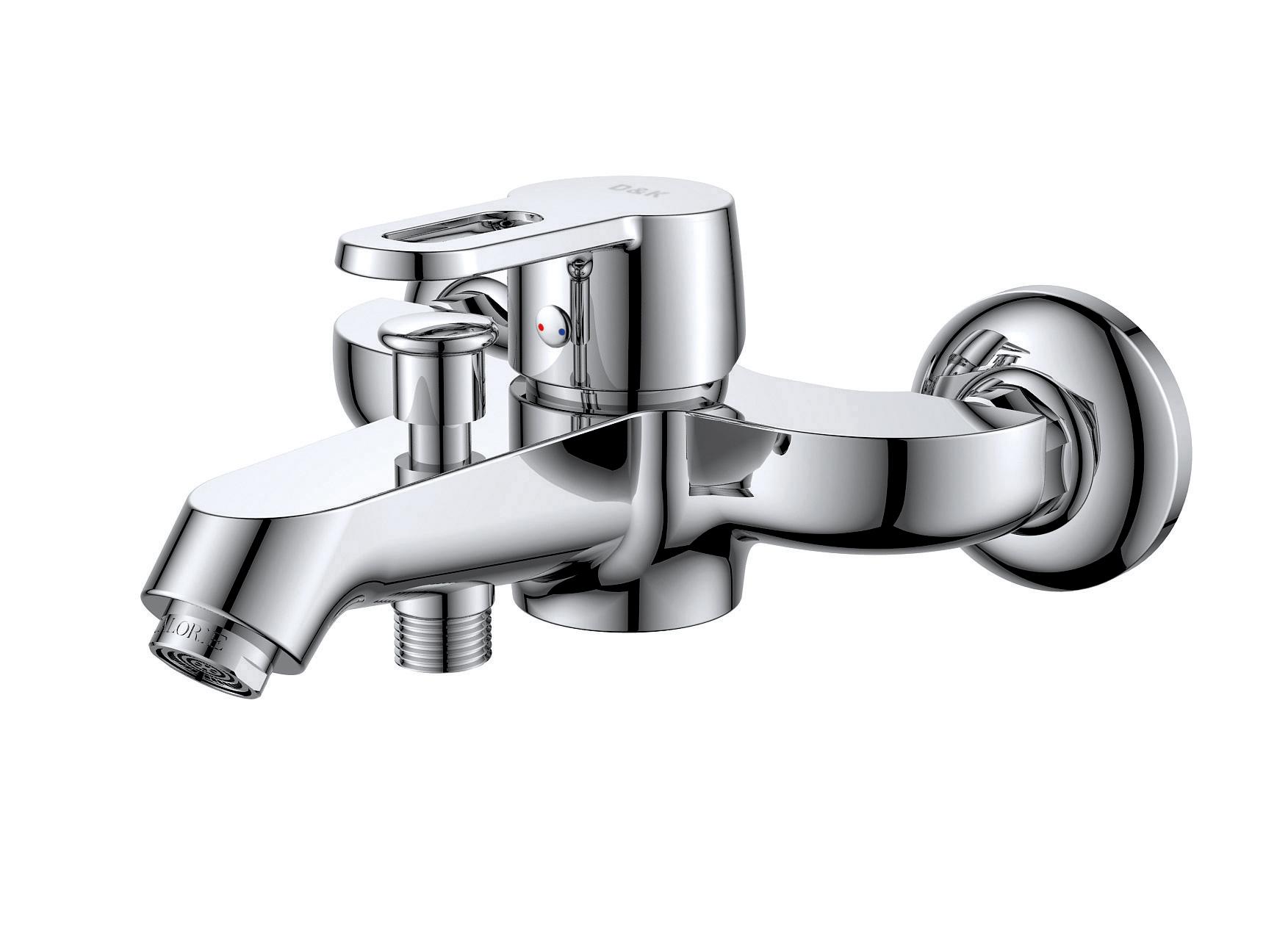 Смеситель для ванны с душем D&K Bayern.Hamburg DA1173201 короткий излив хром