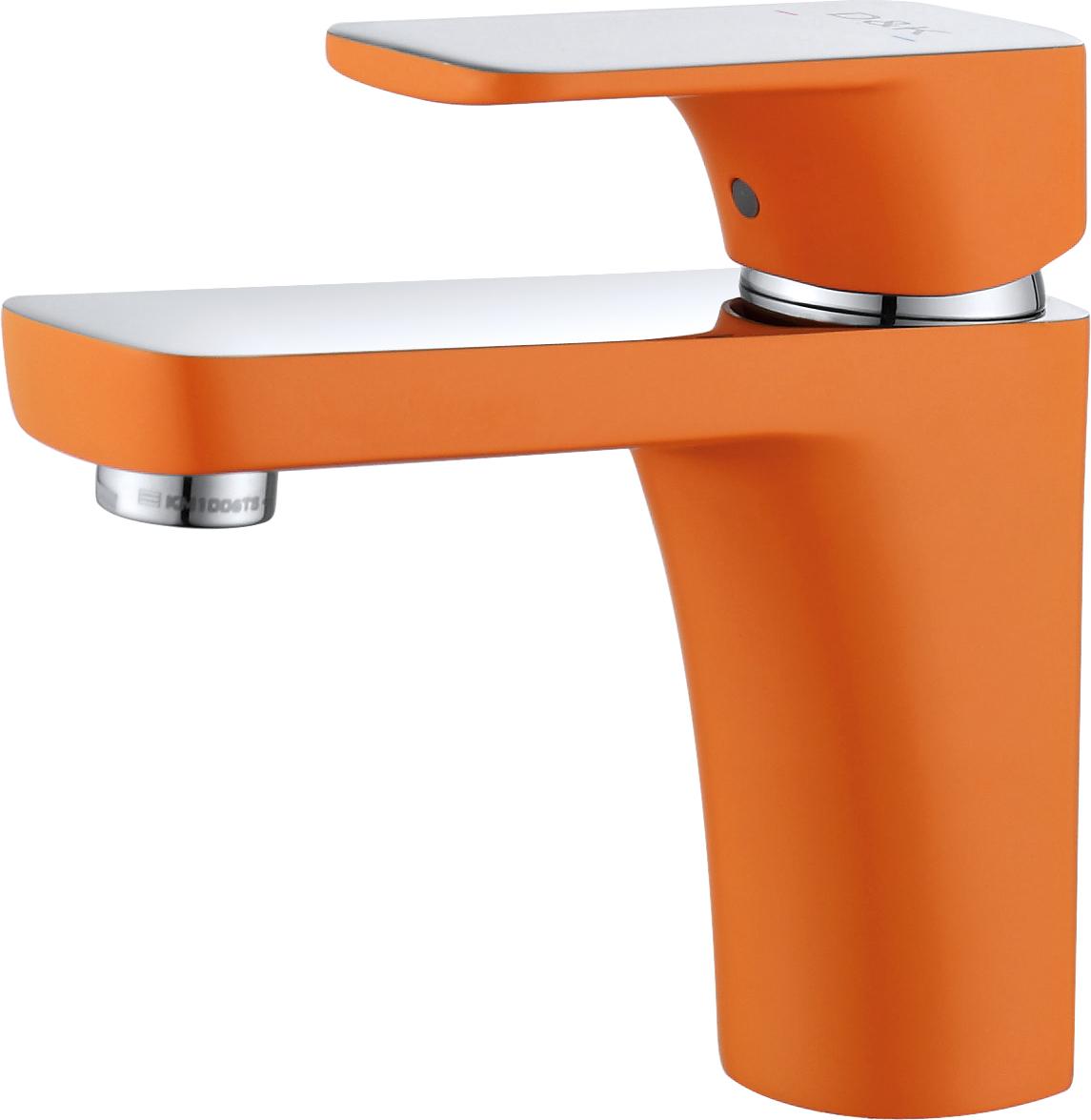 Смеситель для раковины D&K Berlin.Kunste DA1432113 оранжевый-хром